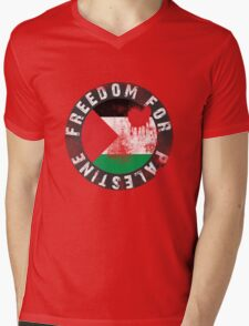 Free Palestine, with bloody Palestinian Flag T-Shirt