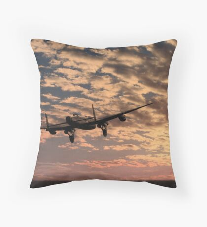 """Pro libertate"" (106 Squadron RAF) Throw Pillow"