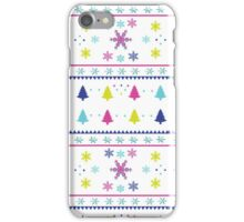 Neon Snowflake - White iPhone Case/Skin