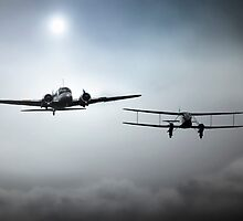 Anson and Rapide by J Biggadike