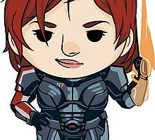 Commander Shepard by zhellyzee