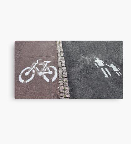 Walk and bike path Sign Canvas Print