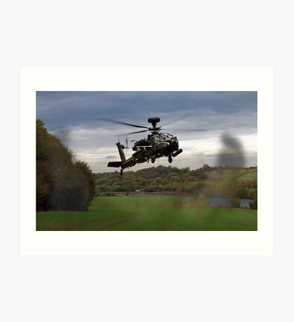 Apache In The Field Art Print