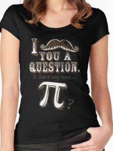Funny Moustache Pi Day Women's Fitted Scoop T-Shirt