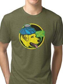 Yellow Lab Ruff Night Tri-blend T-Shirt