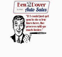 Ben Dover Auto Sales - Do Lines Unisex T-Shirt