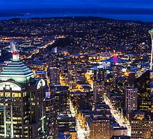 Downtown Seattle from the old Wamu Building to the Space Needle by Jim Stiles