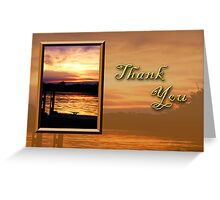 Thank You Pier Greeting Card