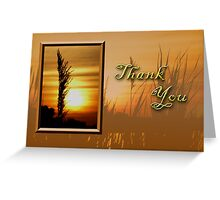 Thank You Sunset Greeting Card