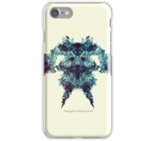 Death's Head - Fractal Rorschach iPhone Case/Skin