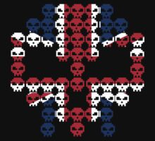 Union Jack Skulls T Shirt by Fangpunk