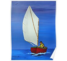 Little sailboat  Poster