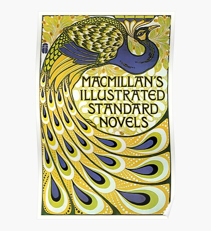 Art nouveau peacock publishing house Poster