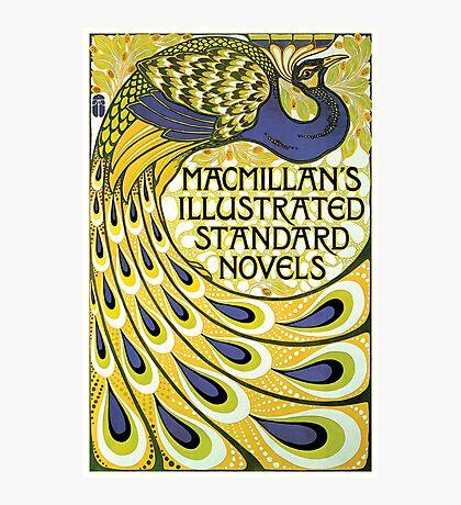 Art nouveau peacock publishing house Photographic Print
