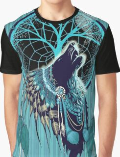 Wolf Indian Shaman Graphic T-Shirt