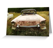 1958 Cadillac, Abilene, Texas Greeting Card