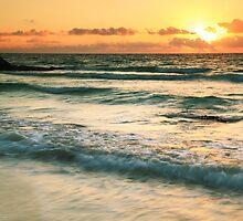 Tulum Sunrise Seascape by Roupen  Baker