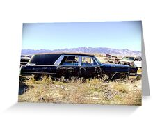 1967 Cadillac Hearse, Grantsville, Utah Greeting Card