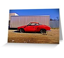 Karman Ghia, Abilene, Texas Greeting Card