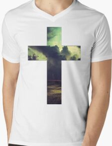 Cloud Cross Mens V-Neck T-Shirt