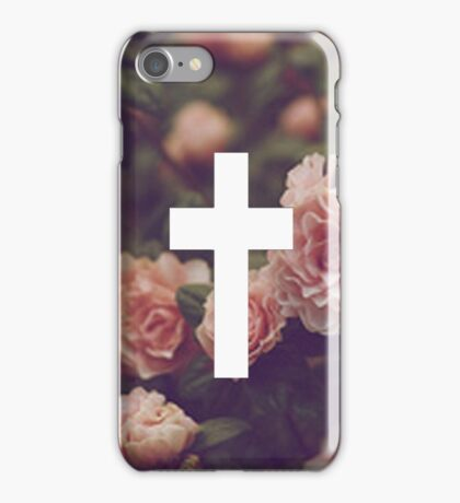 Floral Cross 2 iPhone Case/Skin