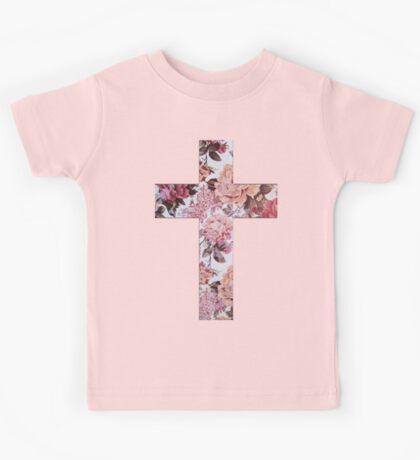 Floral Cross 3 Kids Tee