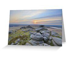 Cornwall: Last Light at Roughtor Greeting Card