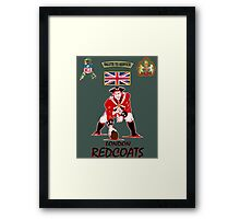 London Redcoats Salute to Service  Framed Print