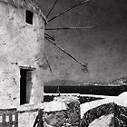 The windmills of Mykonos 3 by Laura Melis