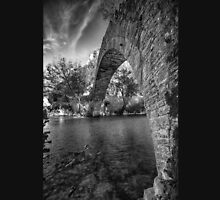 Old stone bridge in northern Greece, in bw Unisex T-Shirt