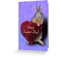 Sweetest Day Bunny Rabbit Greeting Card