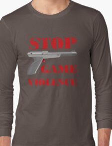 Stop Game Violence Long Sleeve T-Shirt
