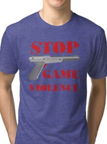 Stop Game Violence Tri-blend T-Shirt