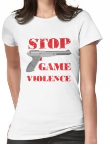 Stop Game Violence Womens Fitted T-Shirt