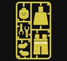Lego Man On Plastic Sprue by electricFIELD