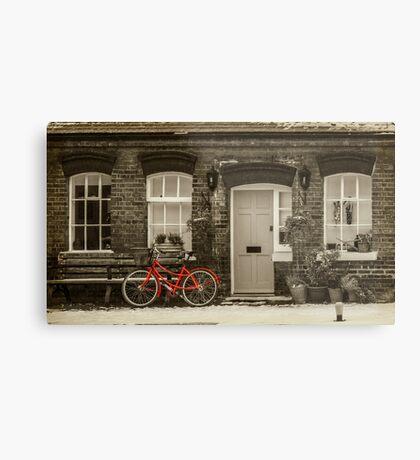 The Red Bicycle Metal Print