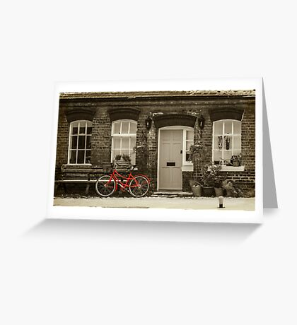 The Red Bicycle Greeting Card