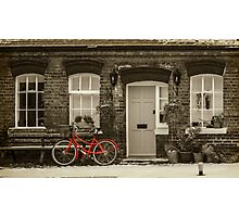 The Red Bicycle Photographic Print
