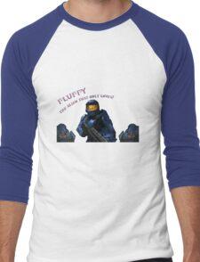 Red vs Blue Fluffy Men's Baseball ¾ T-Shirt
