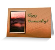 Sweetest Day Grass Sunset Greeting Card