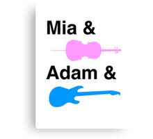 Mia & (Cello) & Adam & (Guitar). Canvas Print