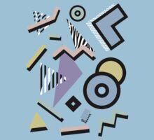 80s Pattern Vaporwave Memphis Pastel Squiggles by seriestoo2