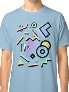 80s Pattern Vaporwave Memphis Pastel Squiggles Classic T-Shirt