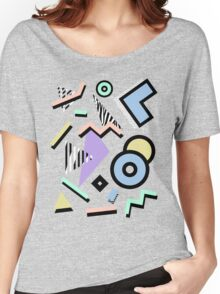 80s Pattern Vaporwave Memphis Pastel Squiggles Women's Relaxed Fit T-Shirt
