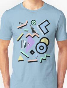 80s Pattern Vaporwave Memphis Pastel Squiggles Unisex T-Shirt