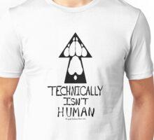Technically Isn't Human-Black Print Unisex T-Shirt