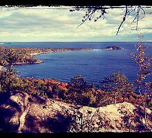 Michigan Lake Superior Scene by perkinsdesigns