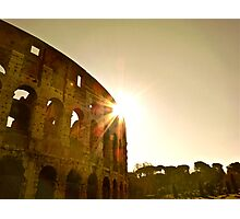The Rising Sun Over Rome Photographic Print