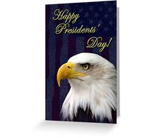 Presidents Day Eagle Greeting Card