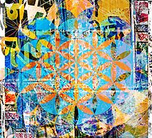 Flower Of Life - Sacred Décollage by ChiTreeSign